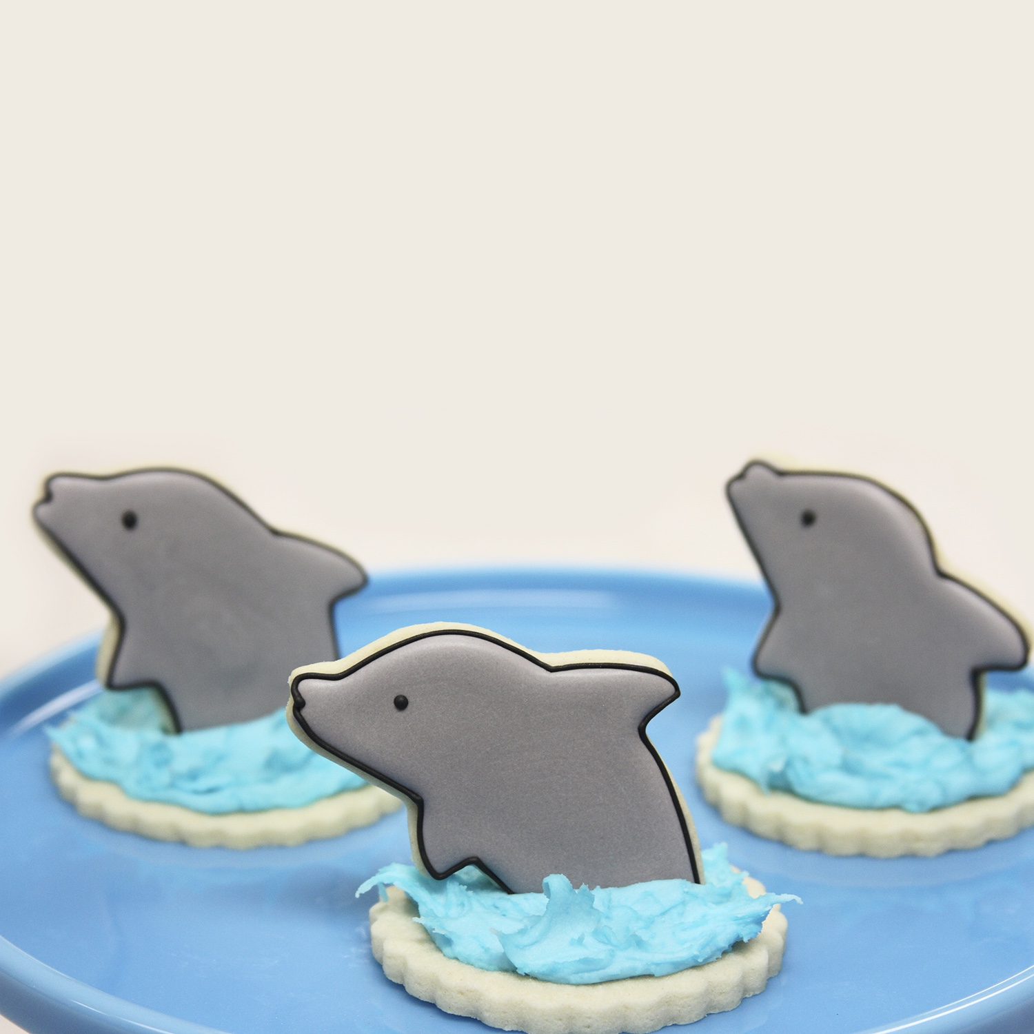 3D-Dolphin Cookies