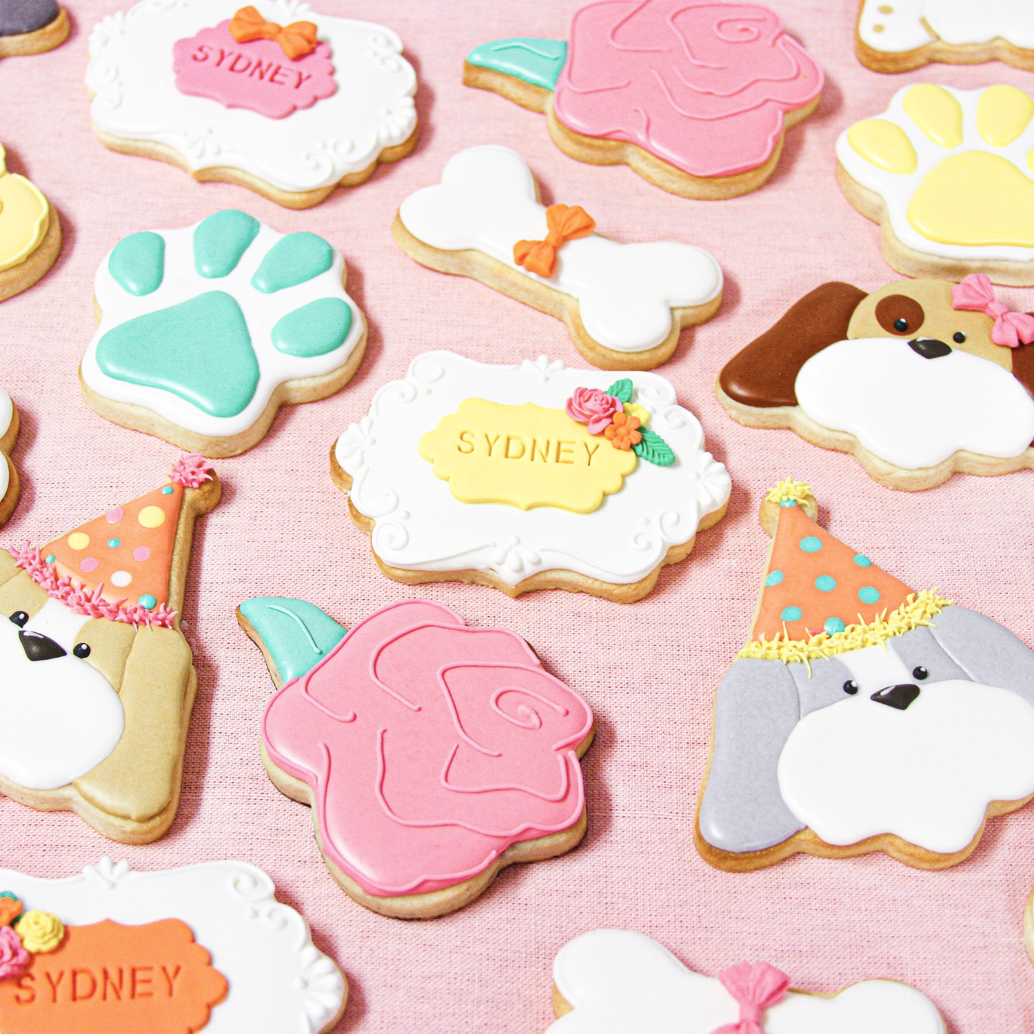 Birthday Dog Cookie Set