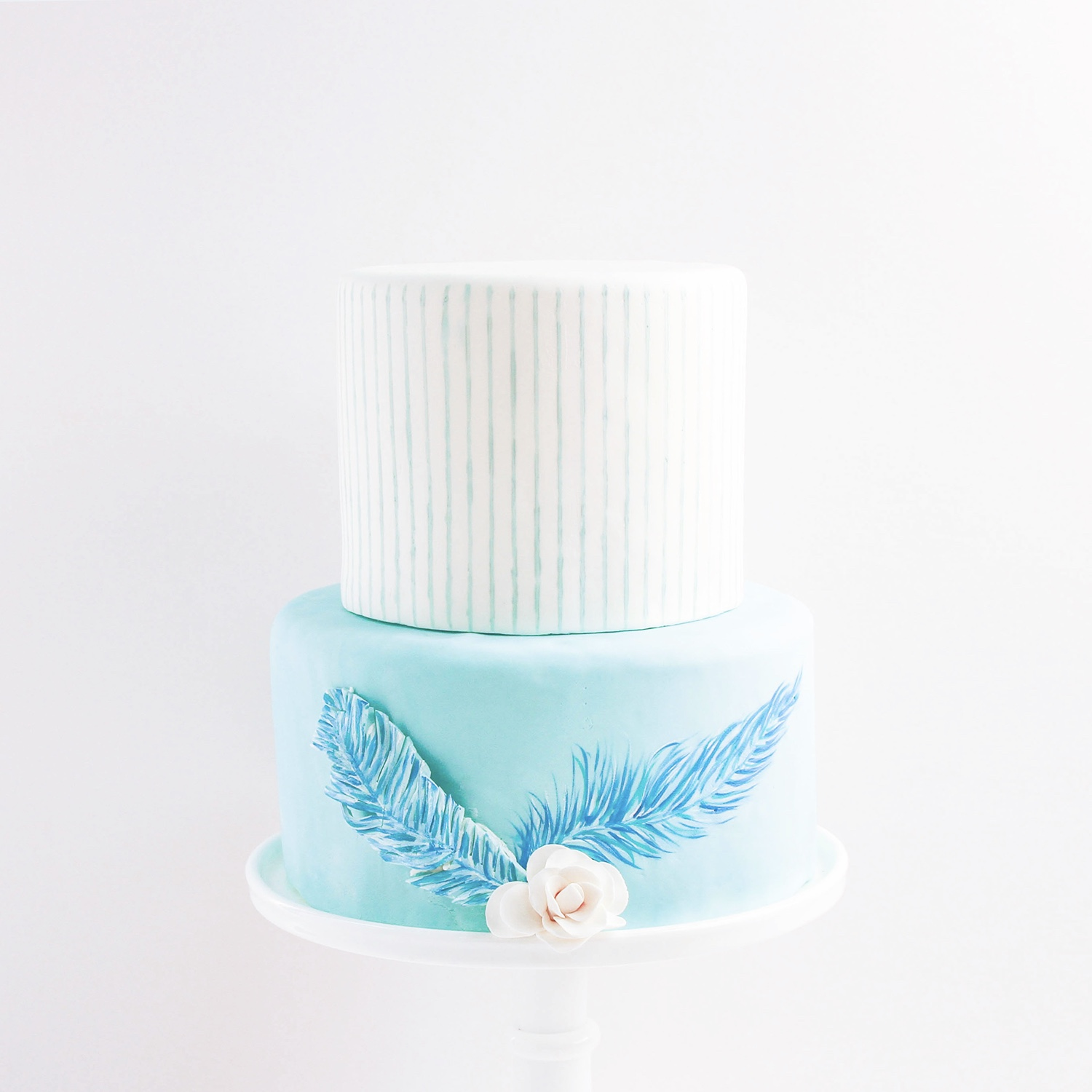 Blue Feather Cake