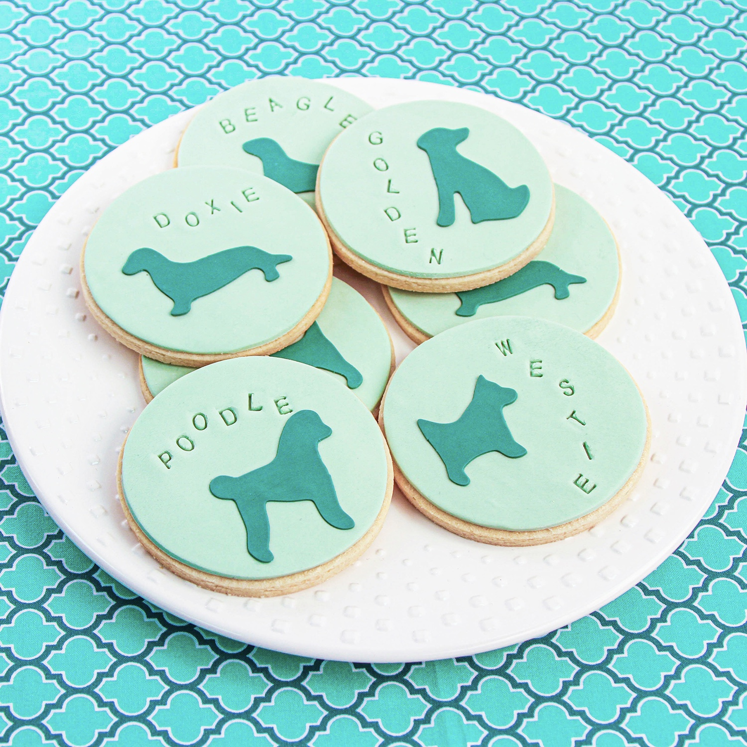 Dog Silhouette Cookies