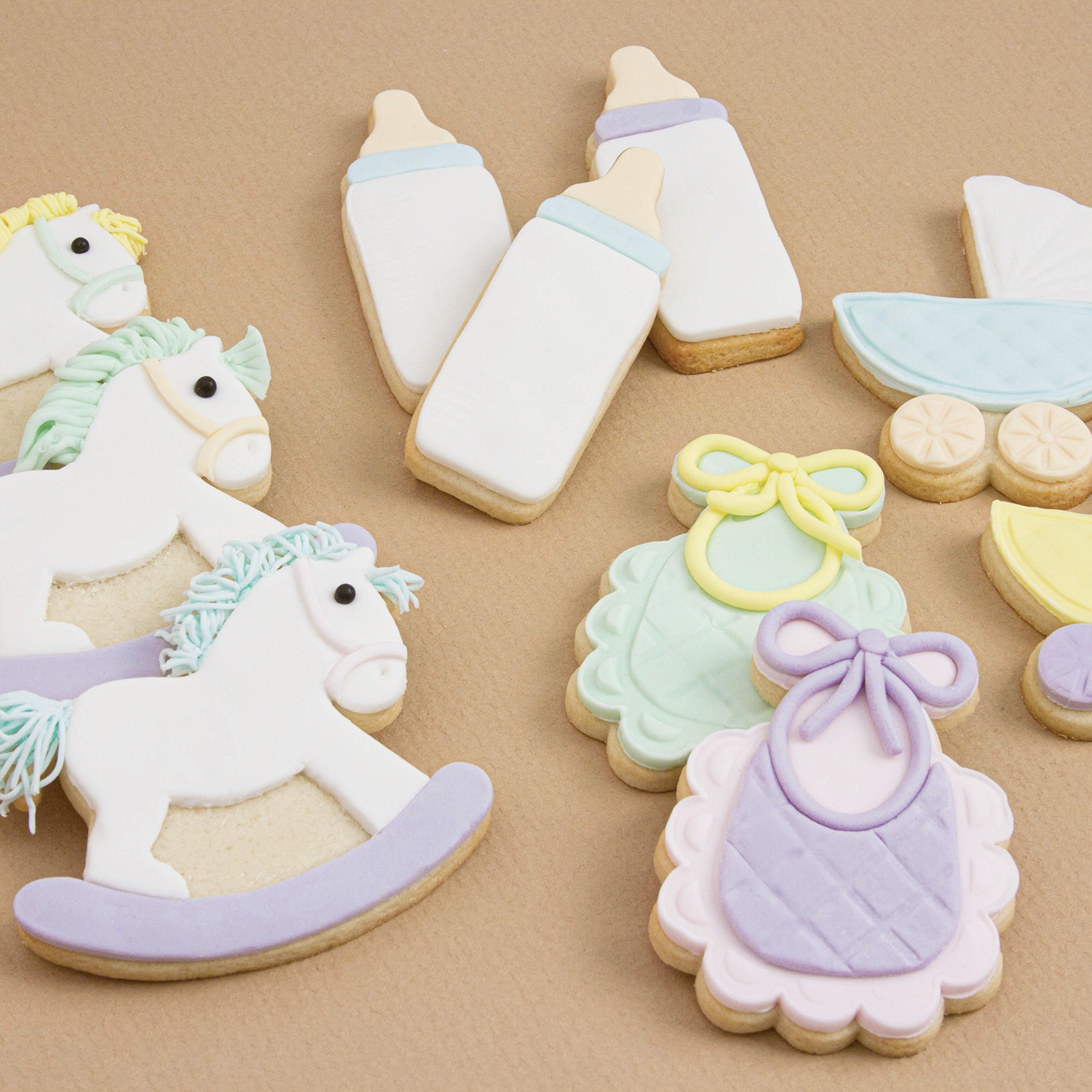 Pastel Baby Cookie Set