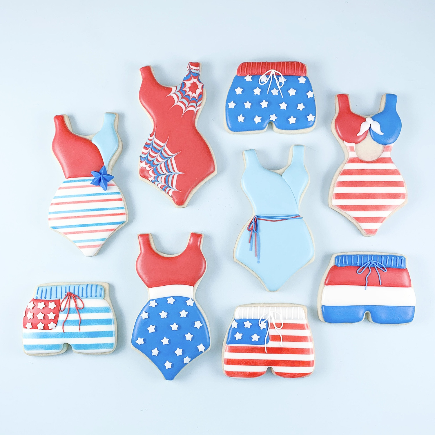Patriotic Swimming Cookie Set