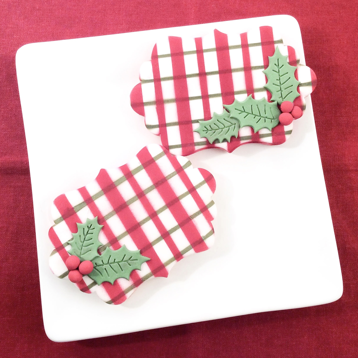 Red & Green Plaid Cookies