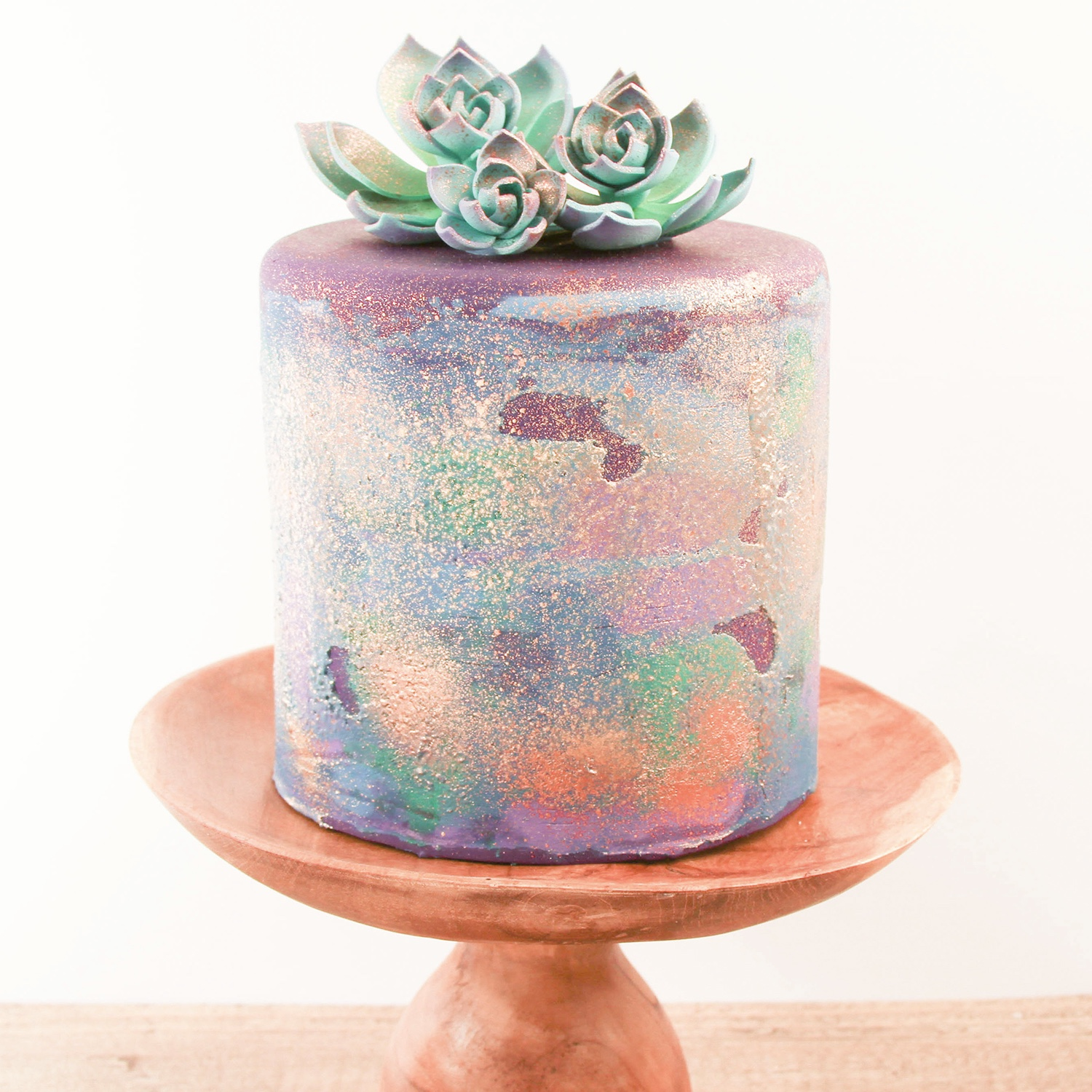 Whimsical Succulent Cake