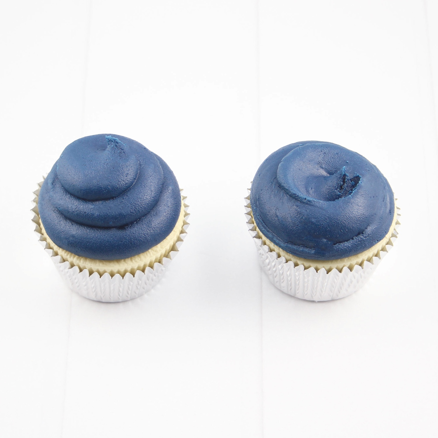 Nautical Navy Frosted Cupcakes