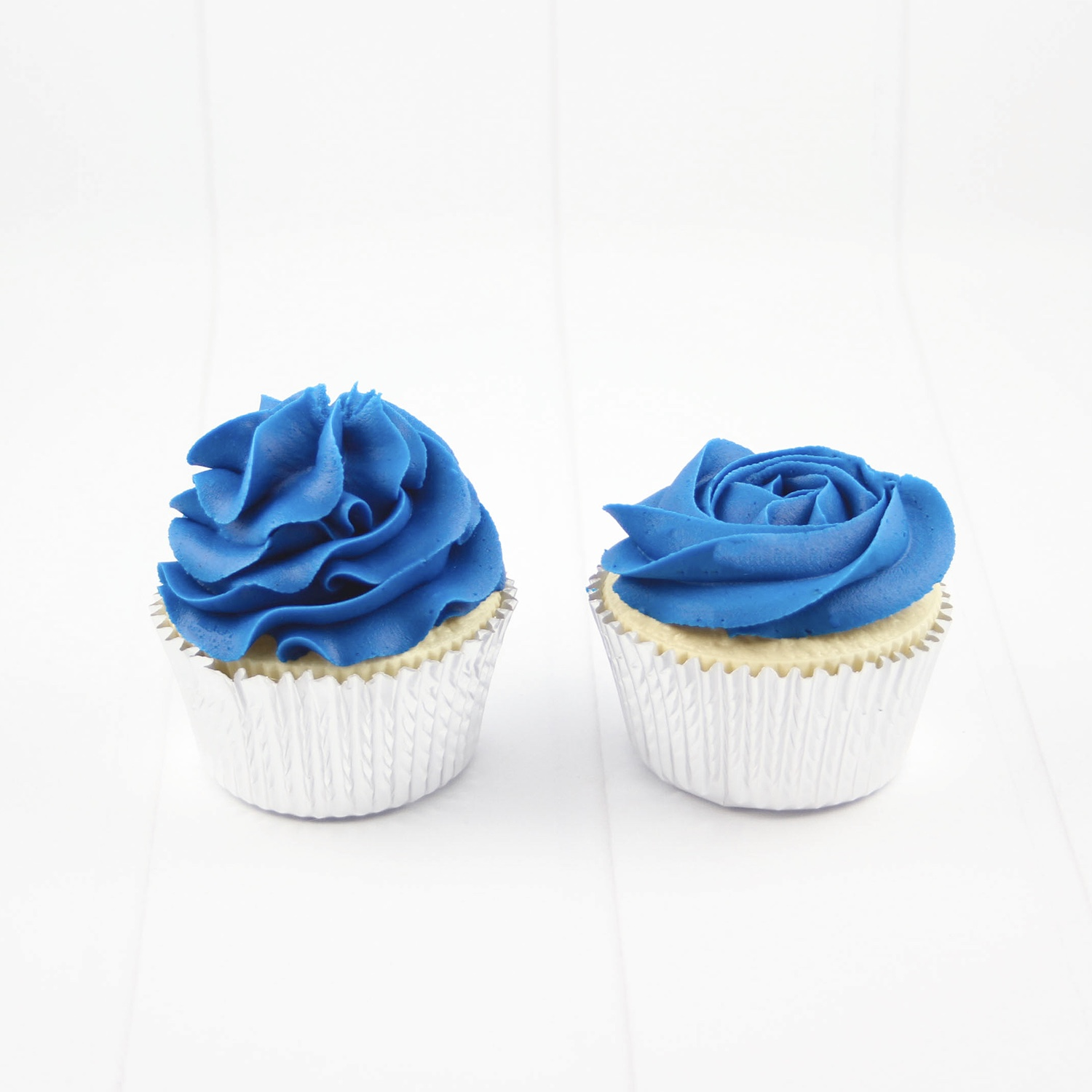 Berry Blue Frosted Cupcakes