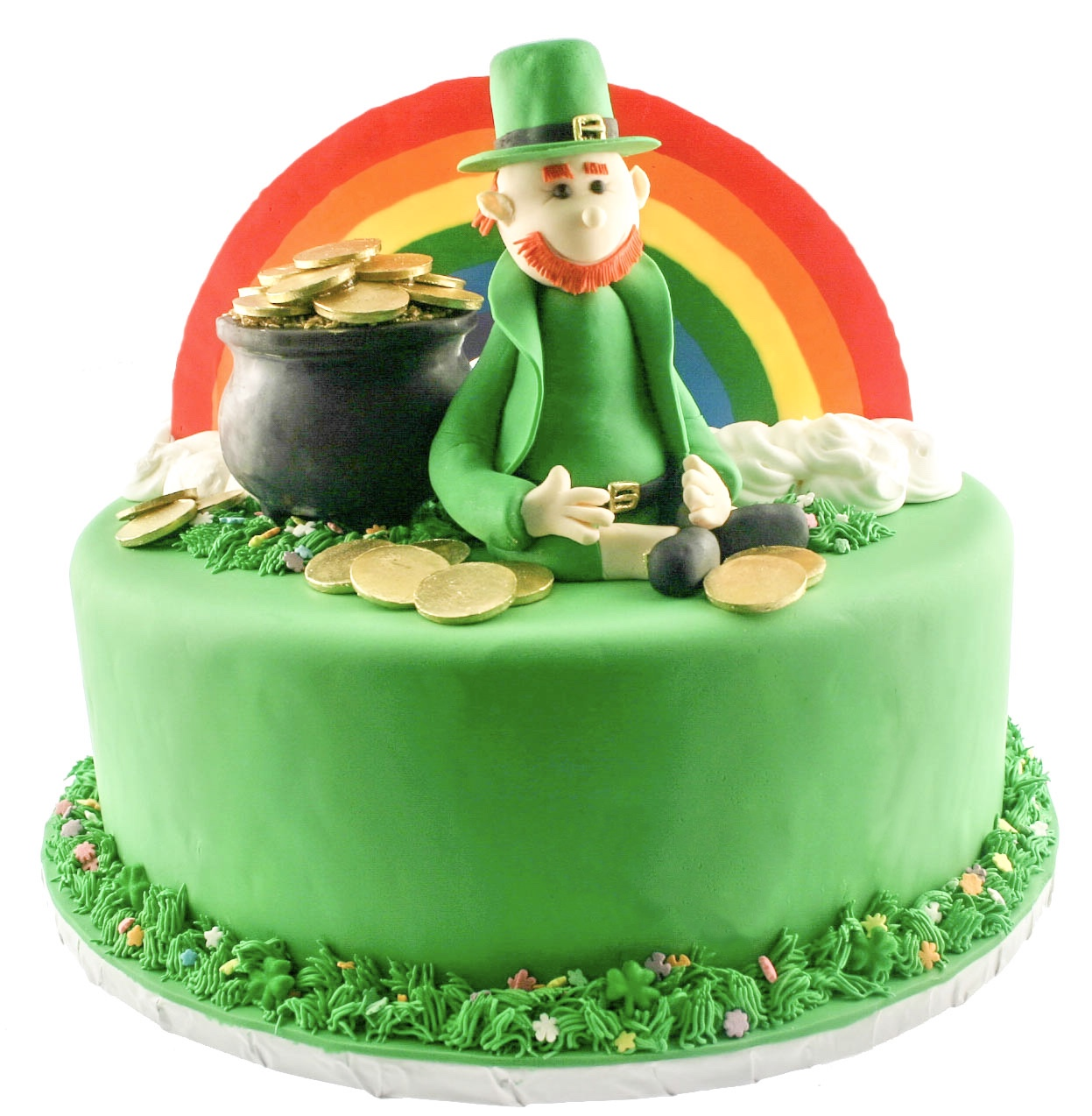 Golden Coin Leprechaun Cake