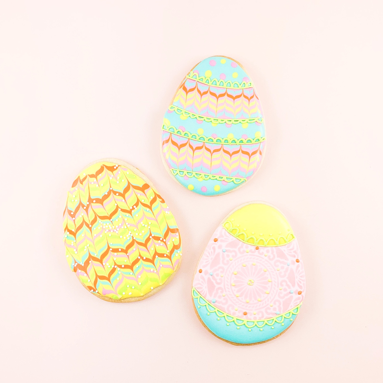 Royal Icing Egg Cookies