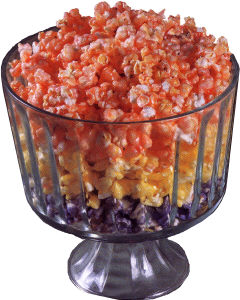 Layered Candied Popcorn