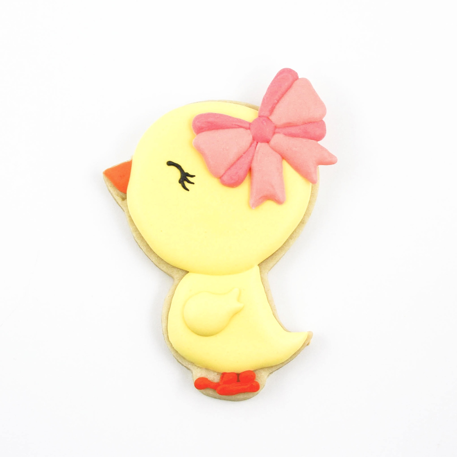 Chick with Bow Cookie