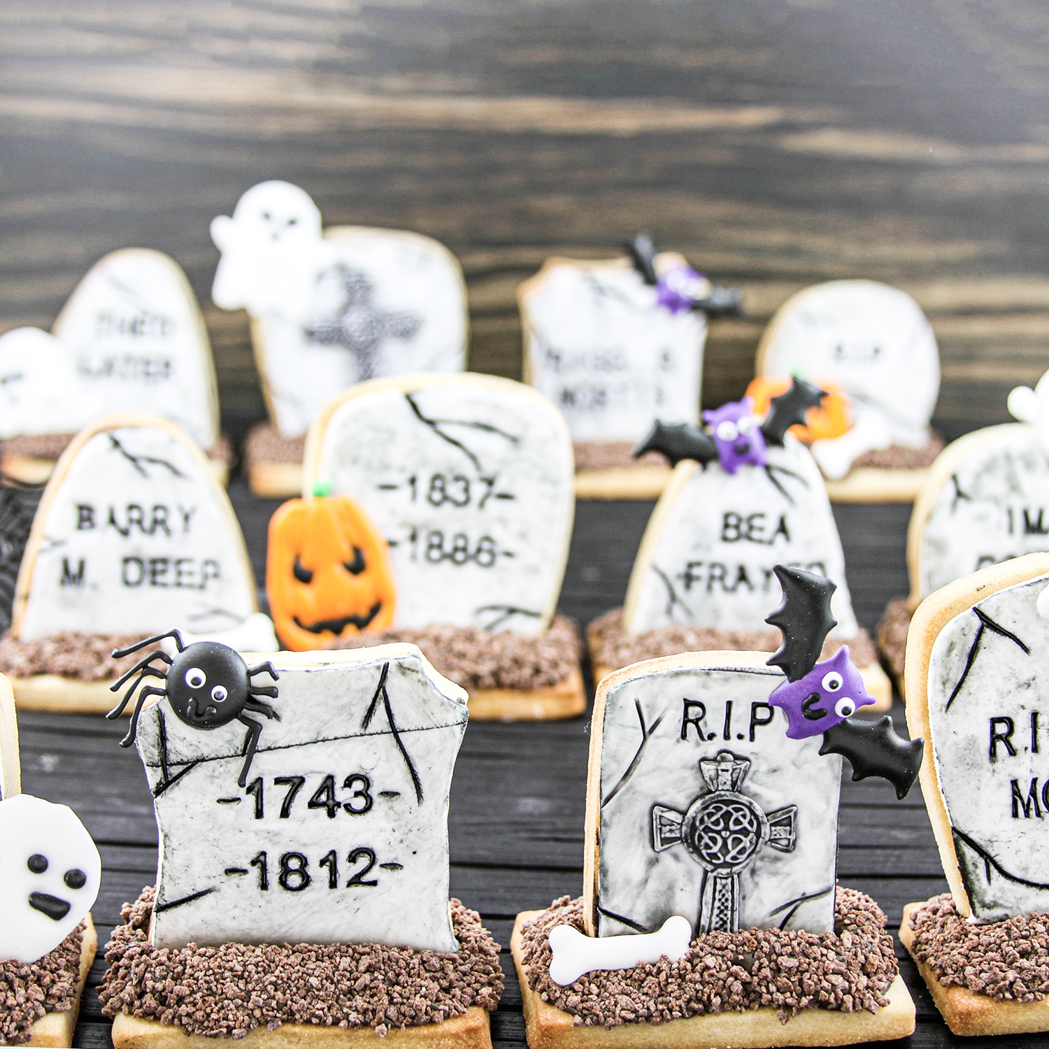 3D Tombstone Cookies