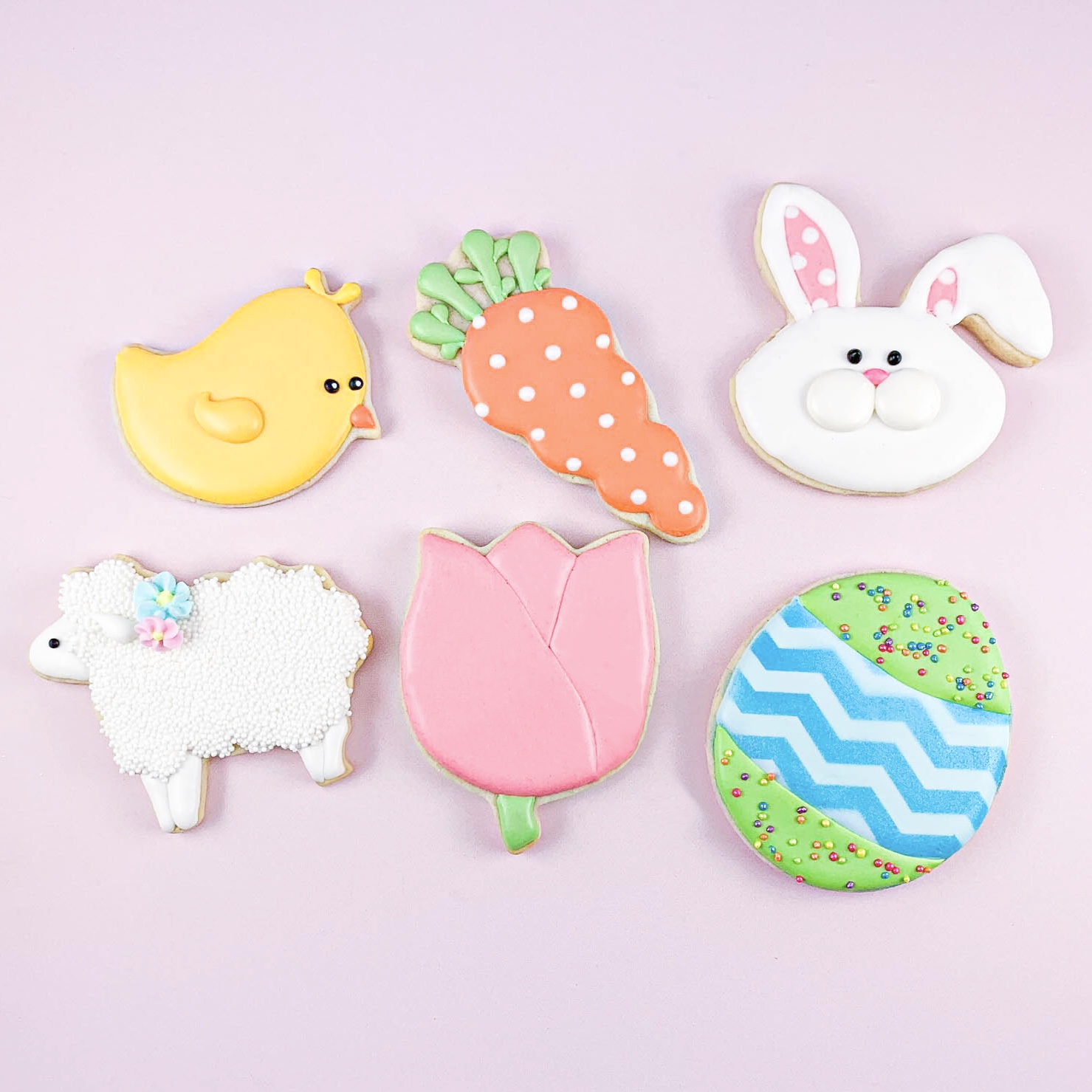 Pastel Easter Cookie Set