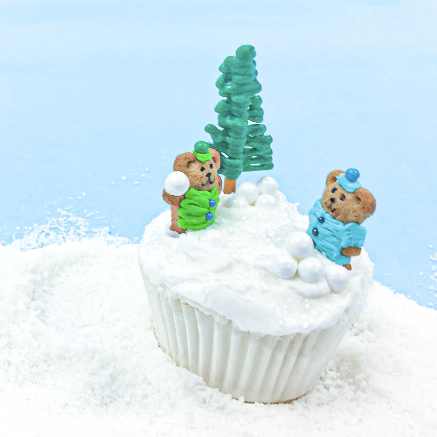 Winter Snowball Cupcake