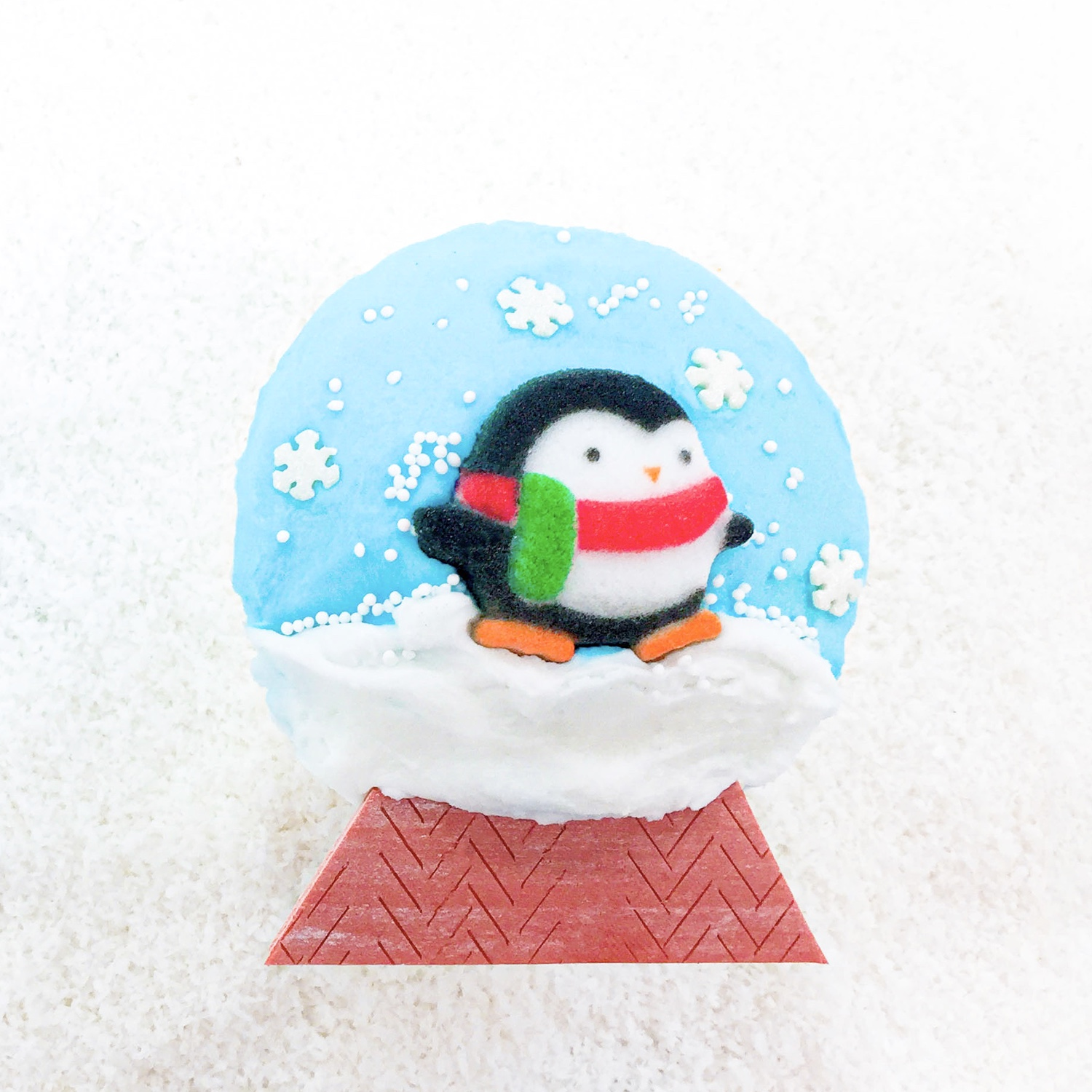 Winter Snowglobe Cupcake