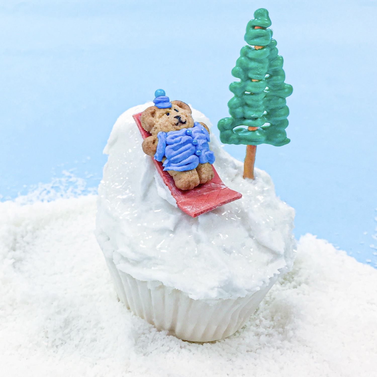 Winter Sledding Hill Cupcake
