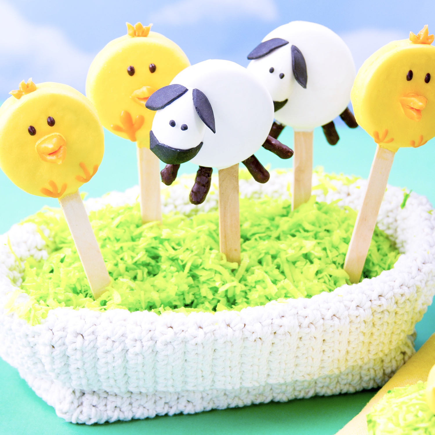 Chick & Lamb Cookie Pops