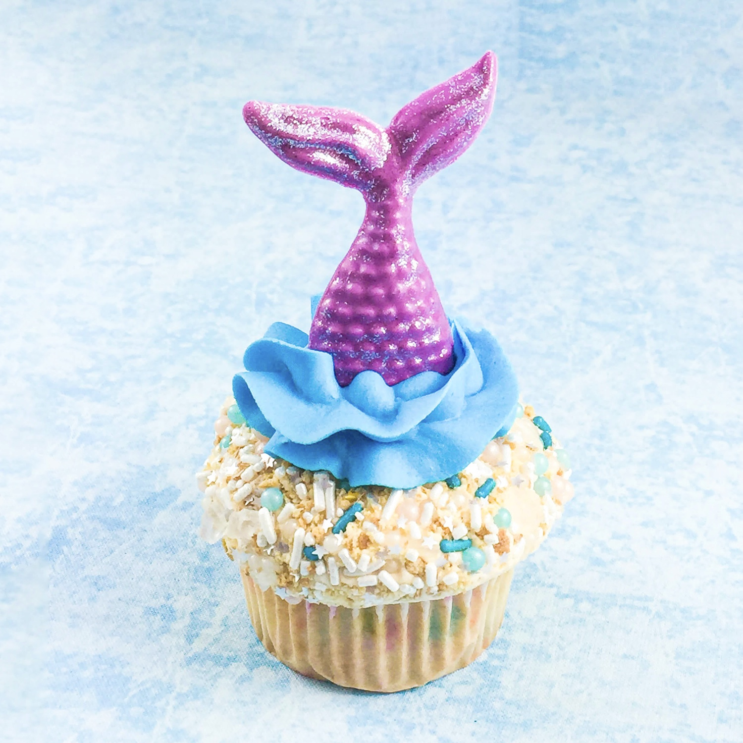 Mermaid Tail Cupcake