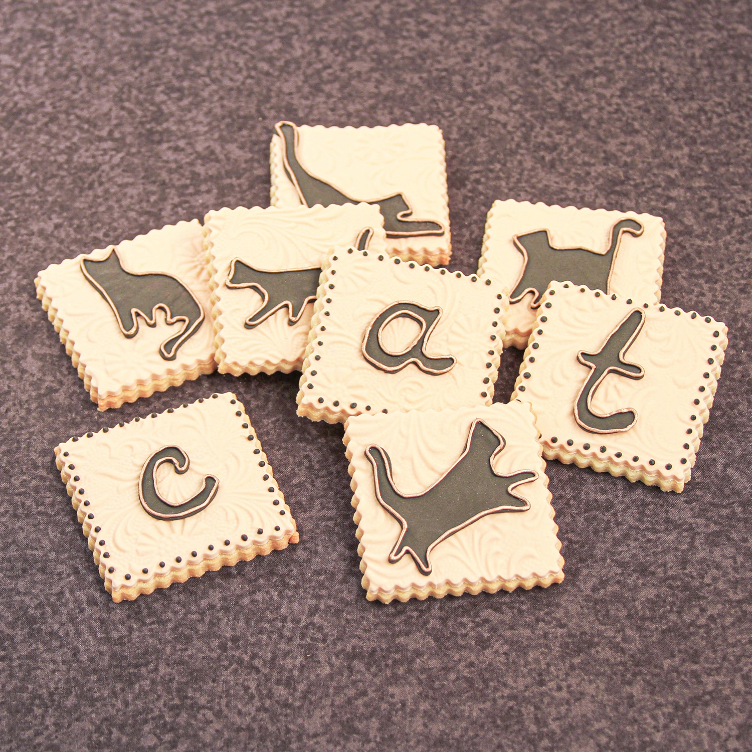 Cat Silhouette Cookie Set