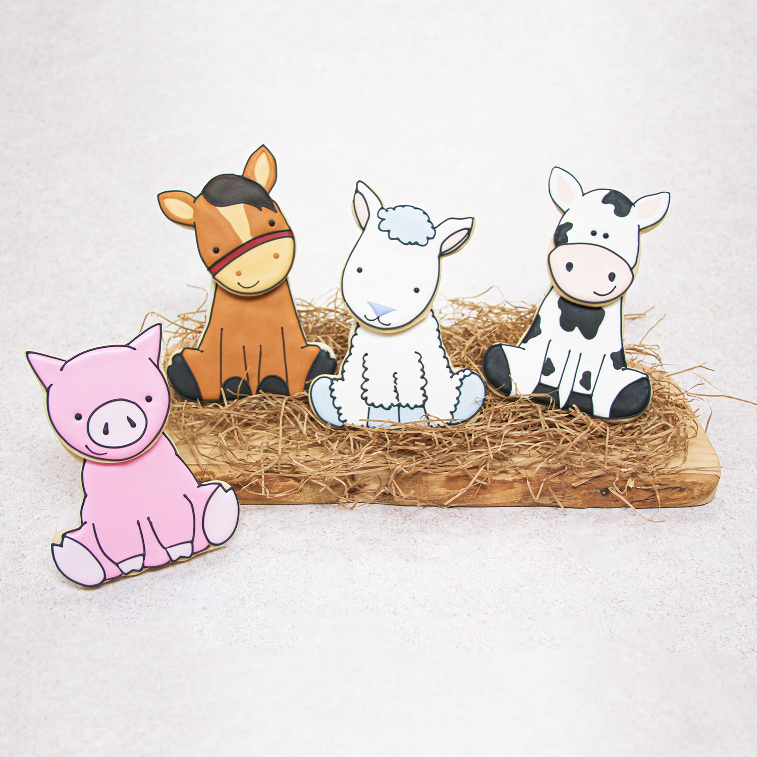 3D Farm Animal Cookies