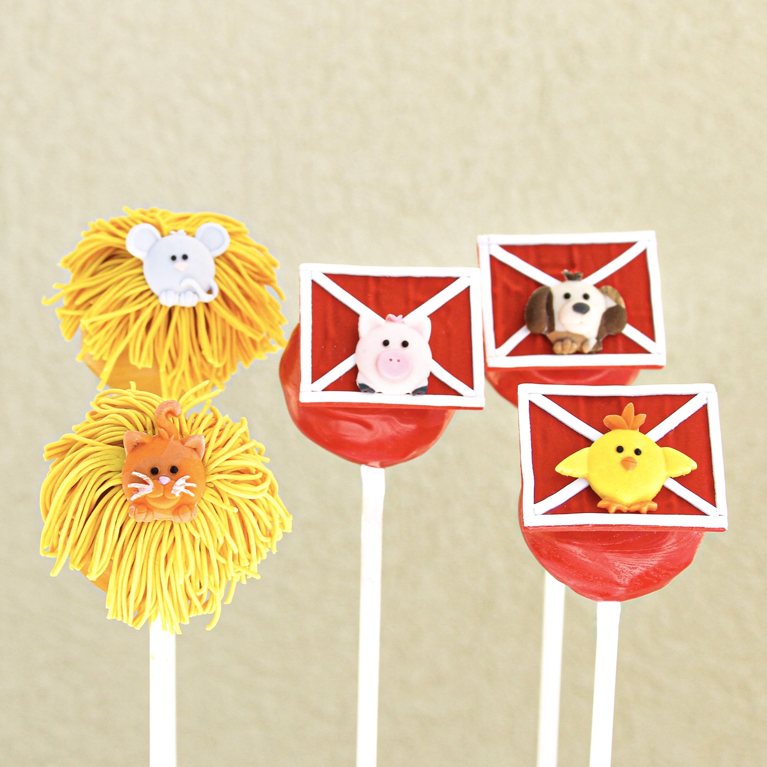 Barnyard Animal Cake Pops