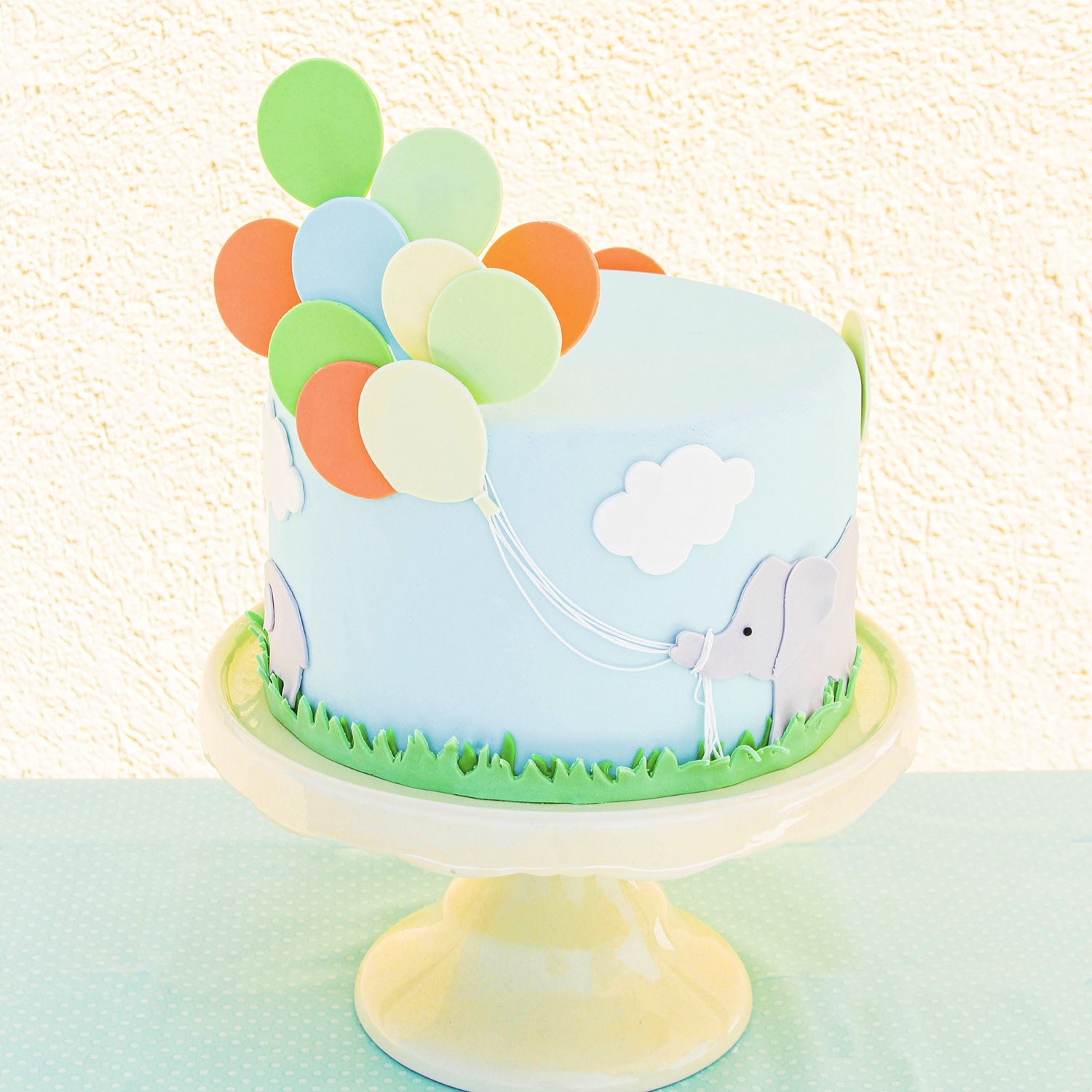 Elephant Balloon Cake