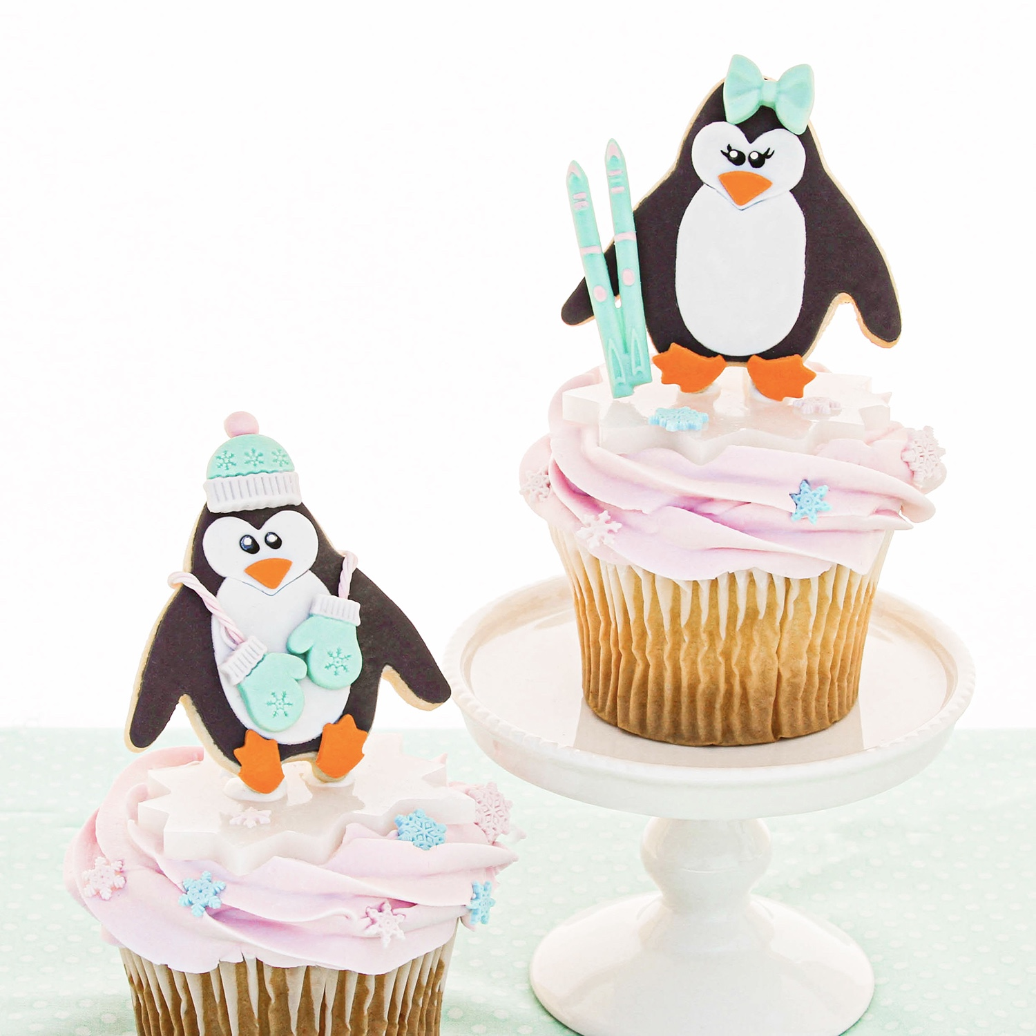 Winter Penguin Cupcakes