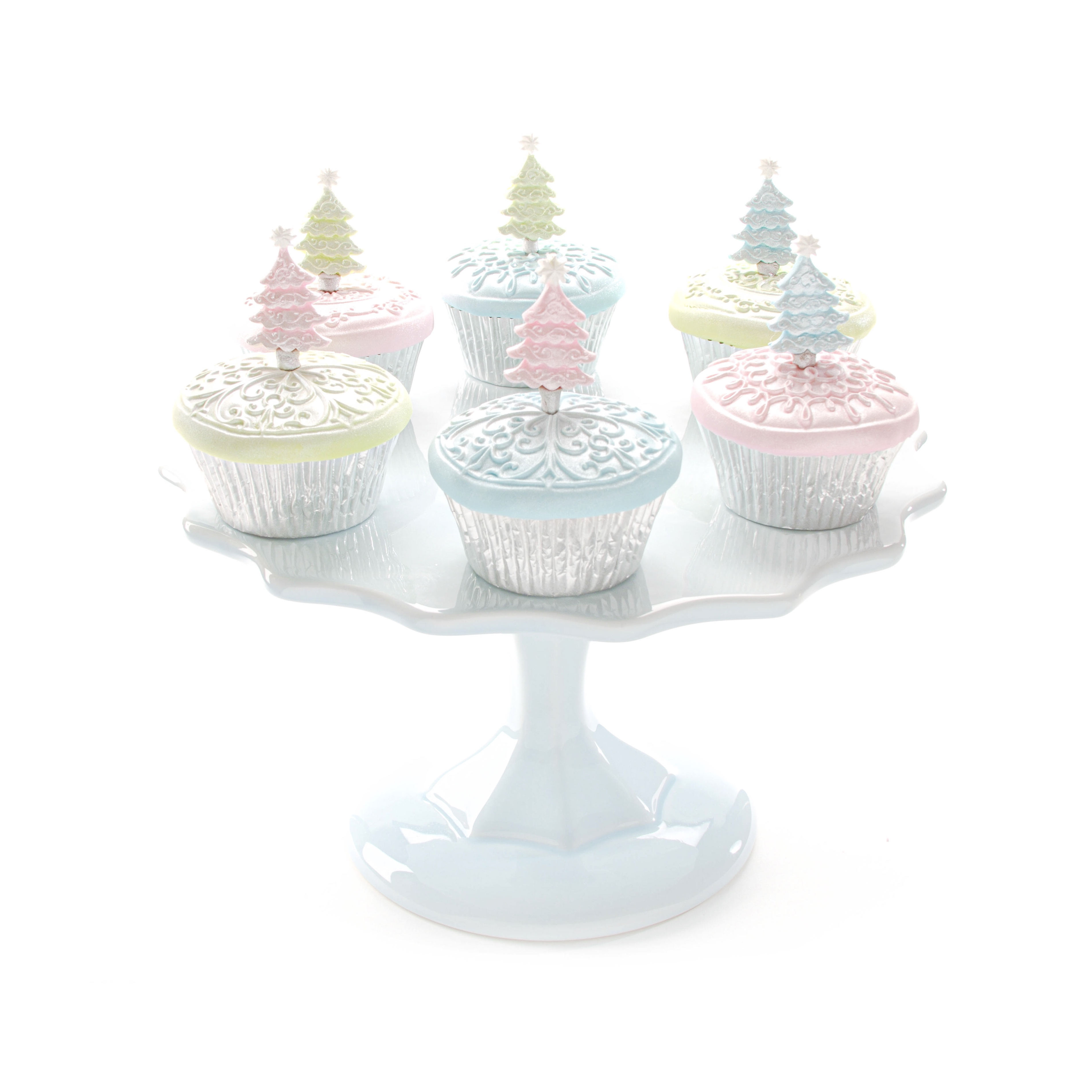 Scroll Christmas Tree Cupcakes