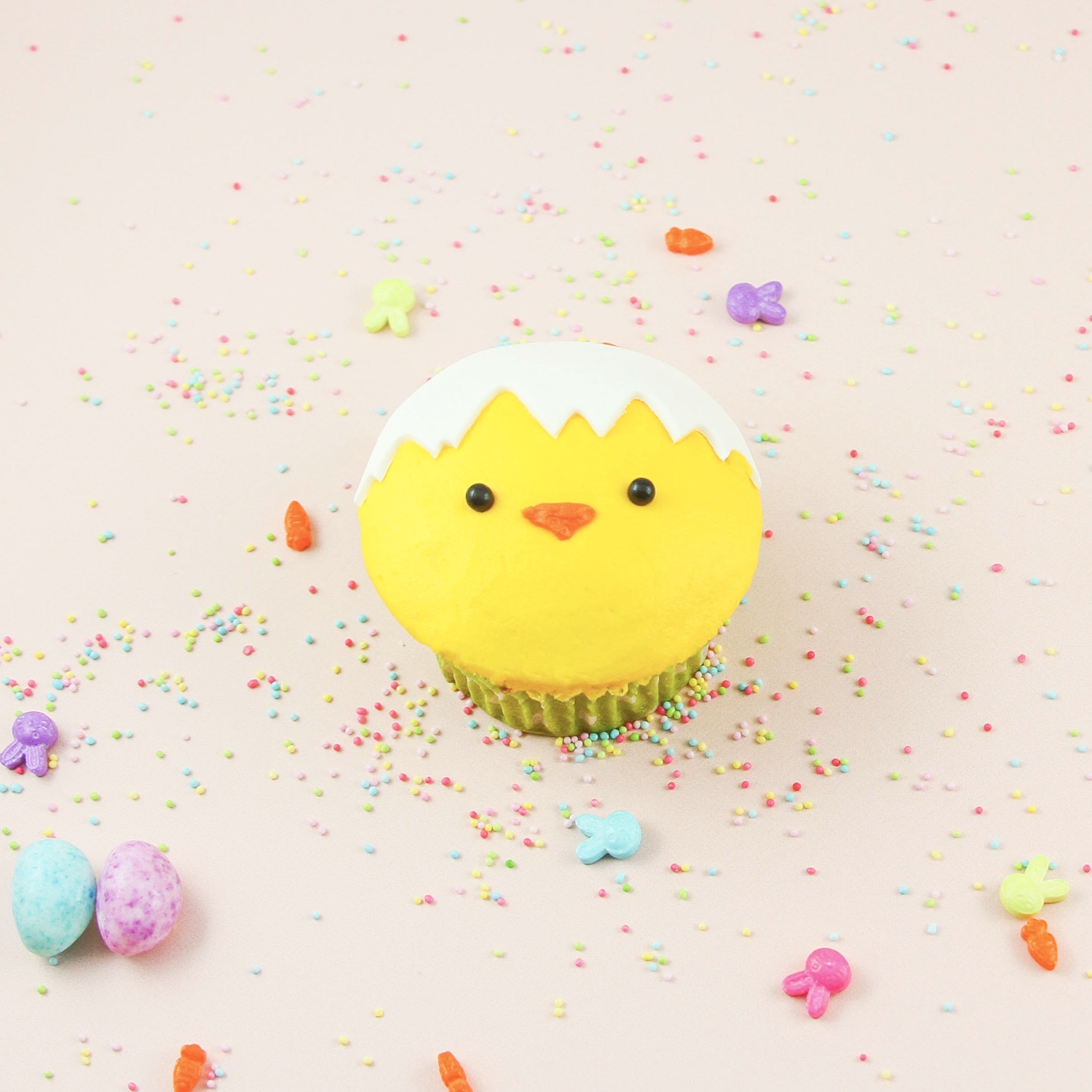 Hatching Chick Cupcake