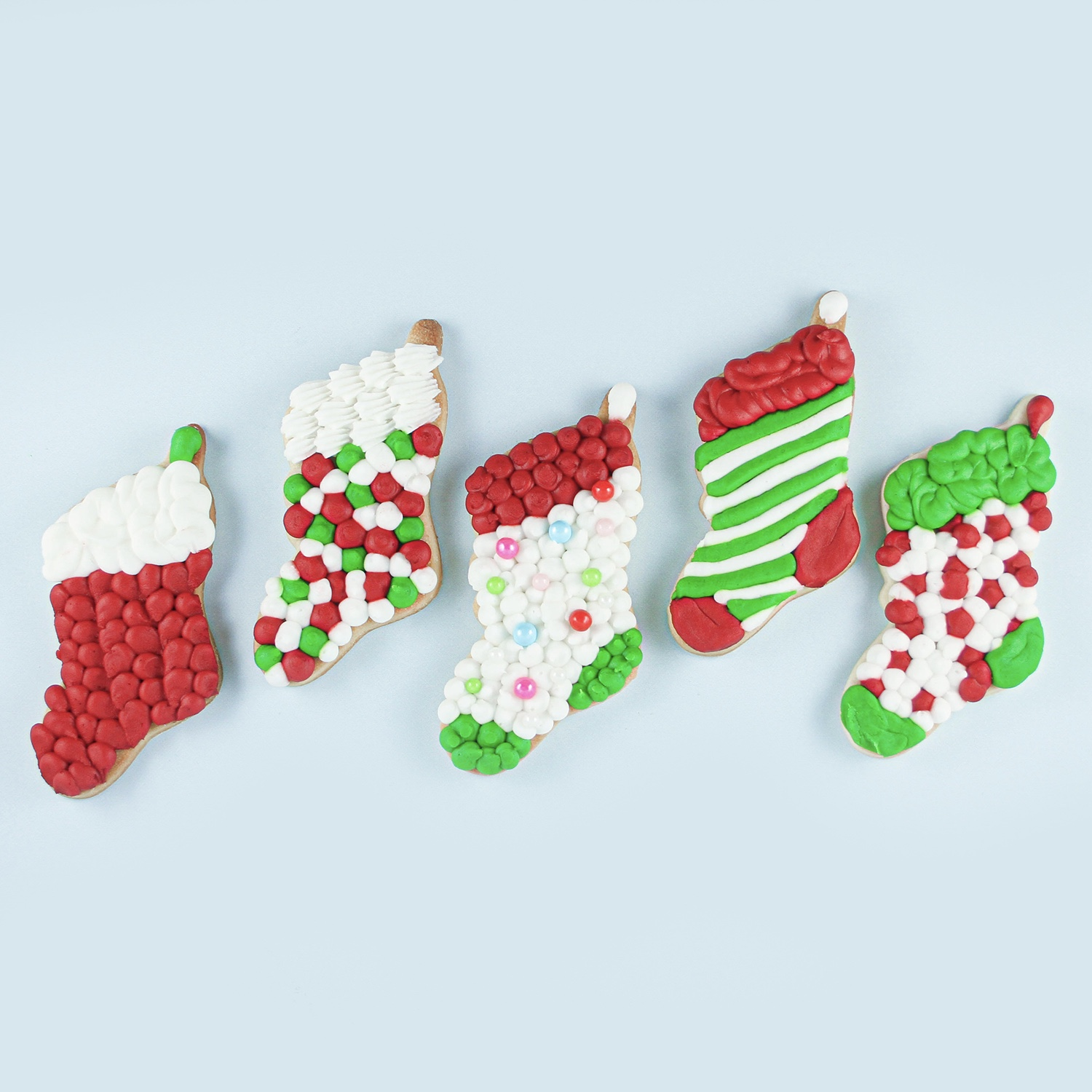 Buttercream Stocking Cookies