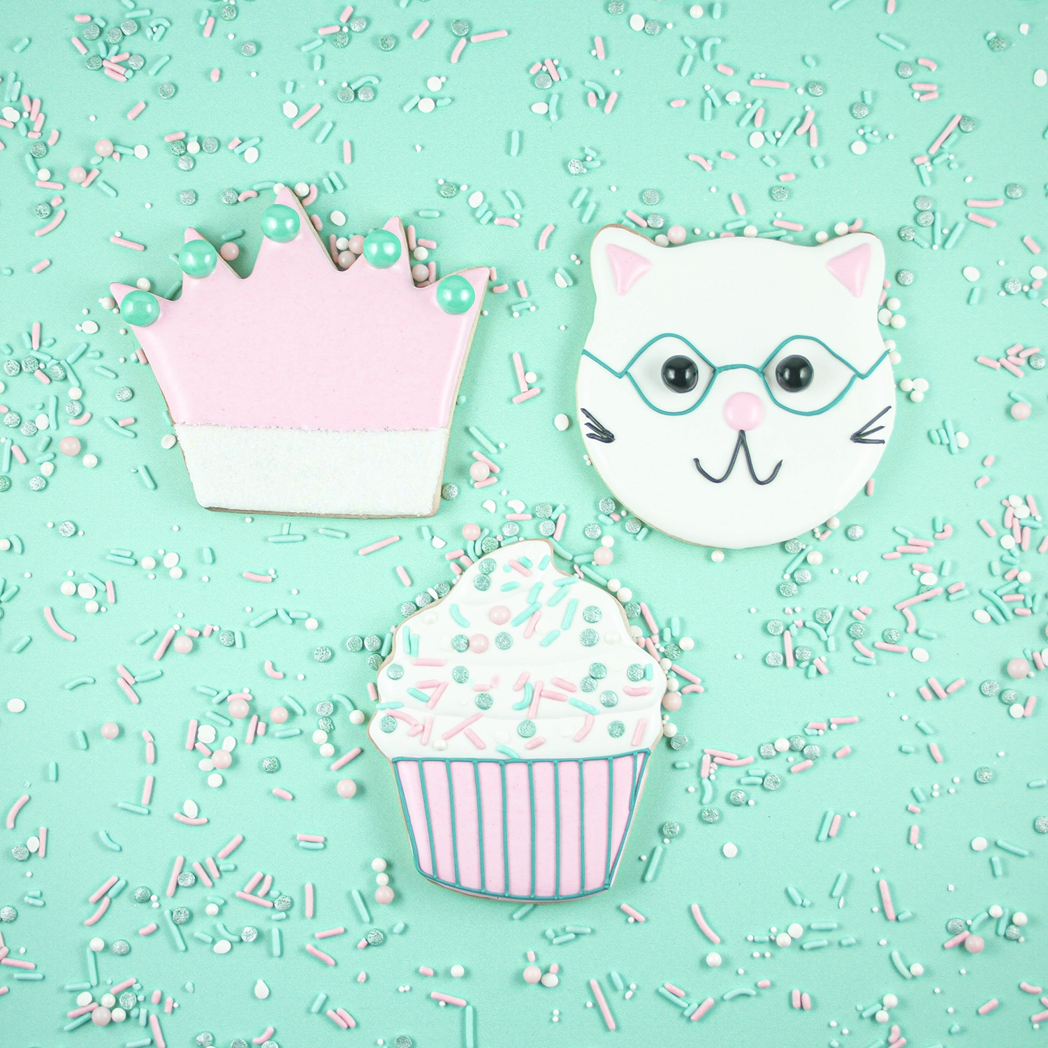Pretty Kitty Cookie Set