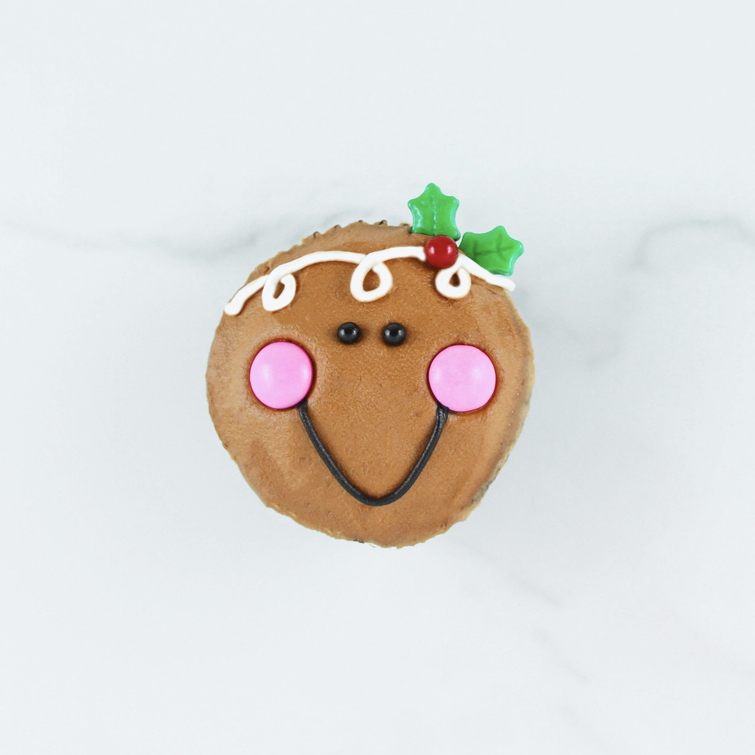 Gingerbread Face Cupcake
