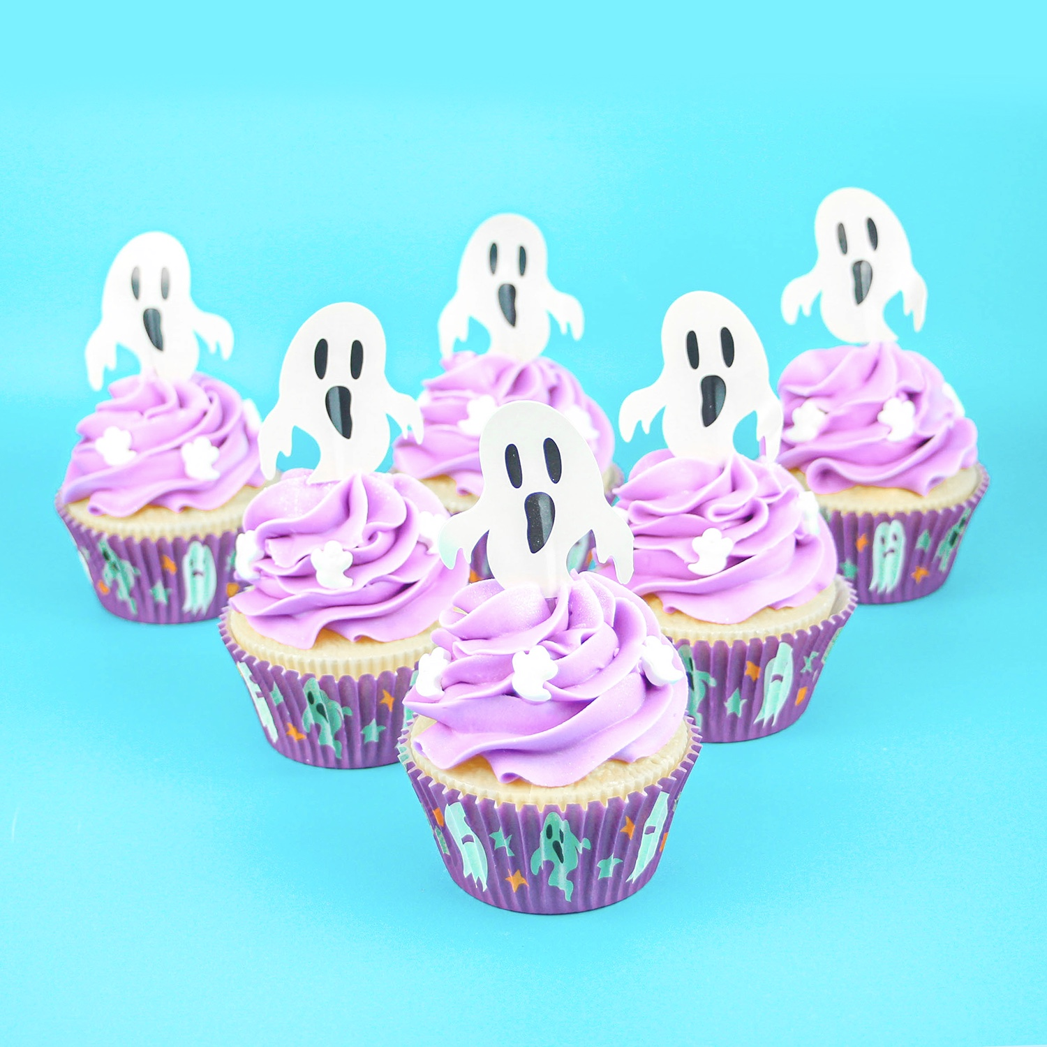 Purple Ghost Cupcakes