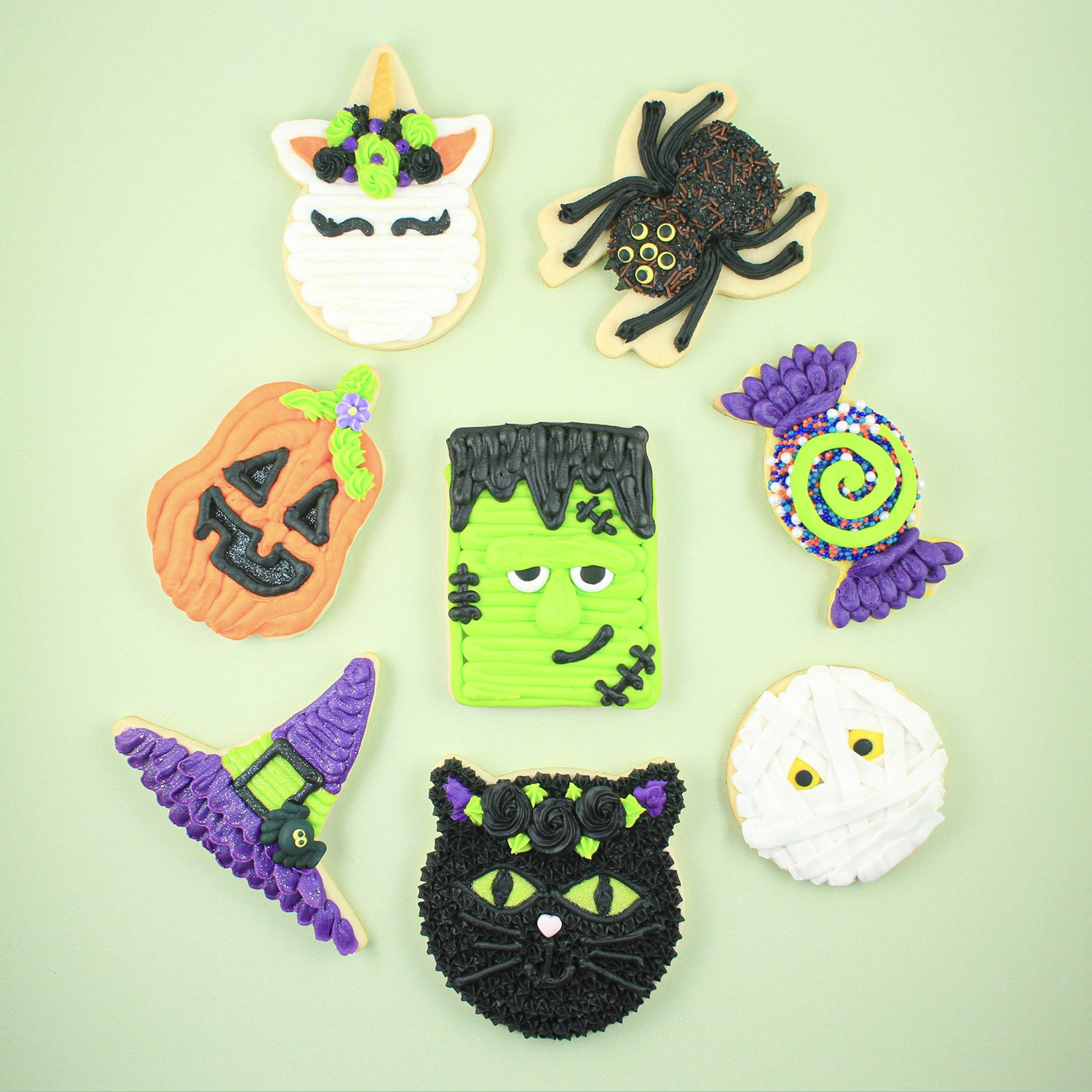 Buttercream Halloween Cookies