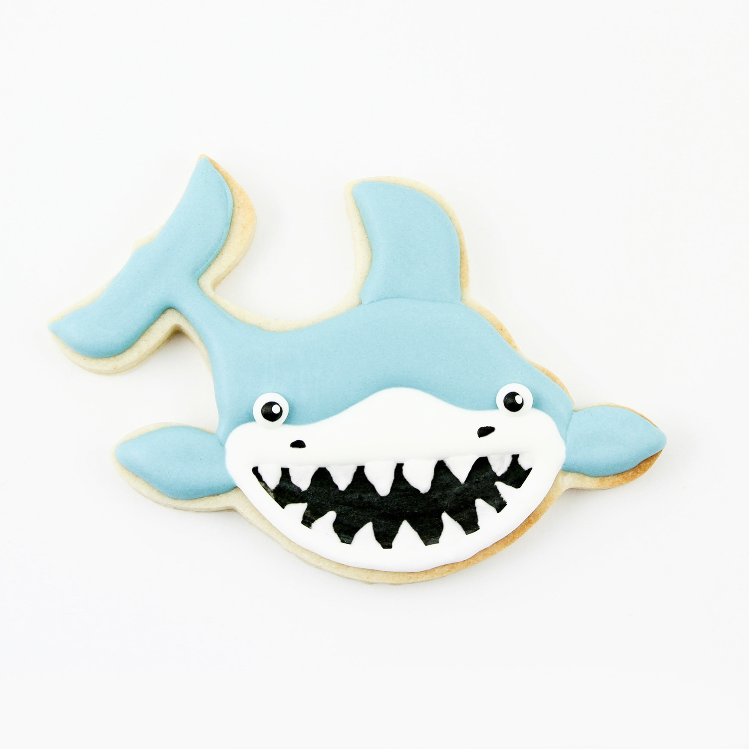 Shark Royal Icing Cookie