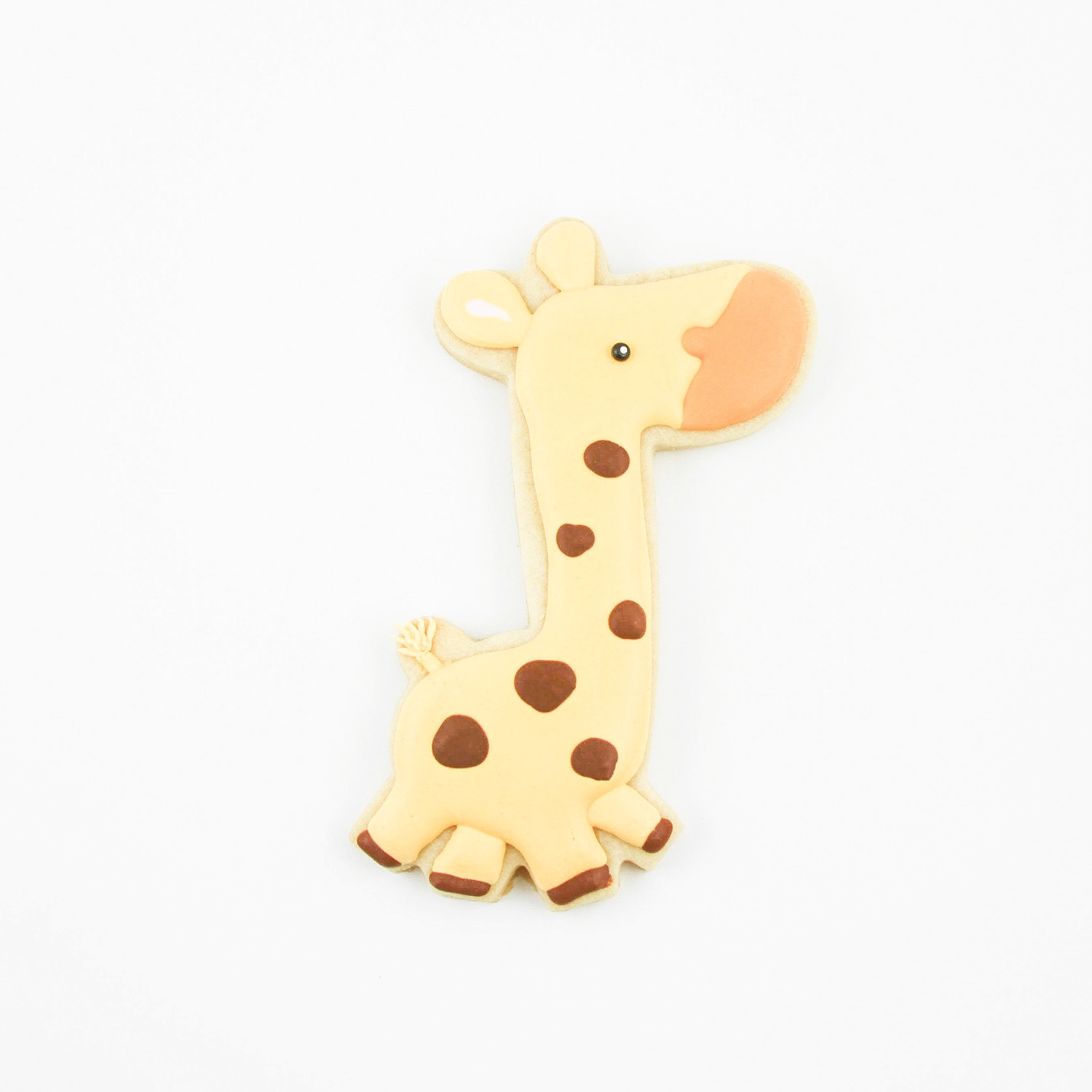 Giraffe Royal Icing Cookie