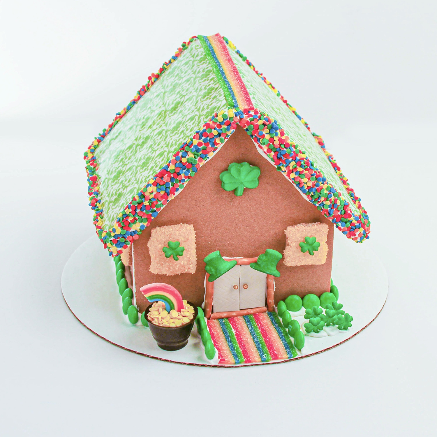St. Patrick's Day Gingerbread House