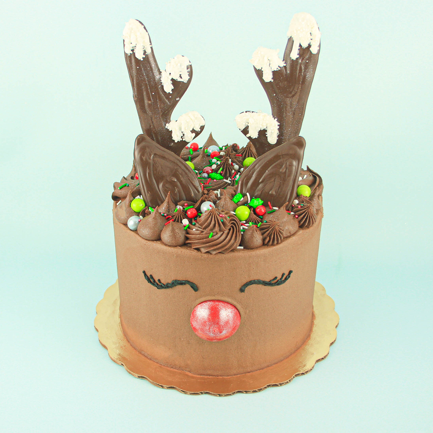 Brown Reindeer Cake