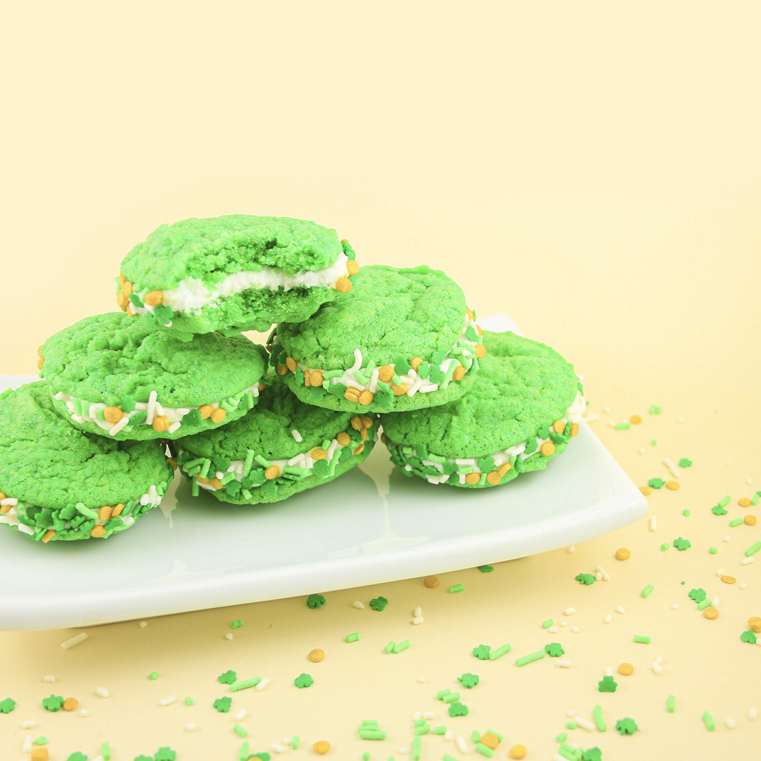 Green Sandwich Cookies