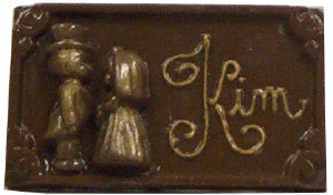 Chocolate Place Card