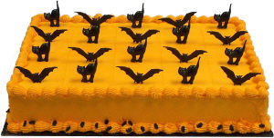 Cat and Bat Sheet Cake
