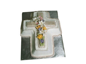 Cross with Flowers Cake