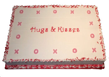 Hugs and Kisses Sheet Cake