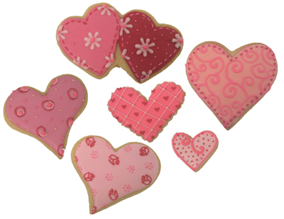 Shades Of Pink Cookies