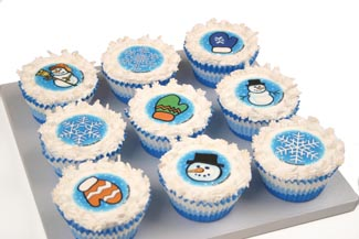 Winter Time Cupcakes