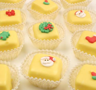 Candy Coated Christmas Petit Fours