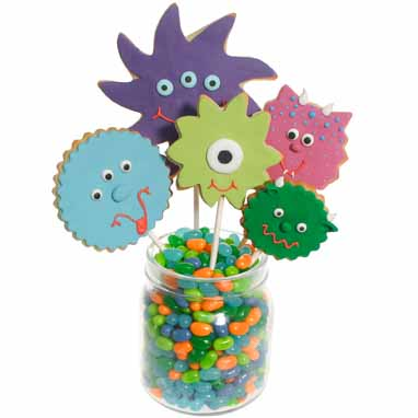 Fun Monster Cookie Bouquet