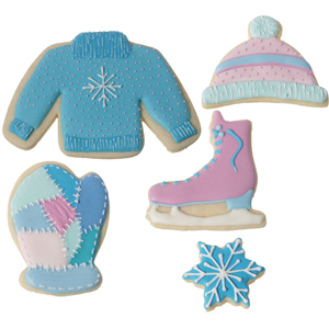Royal Icing Snowy Winter Cookie Set