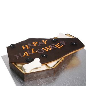 Happy Halloween Coffin Cookie Box