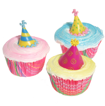 Birthday Hat Cupcakes
