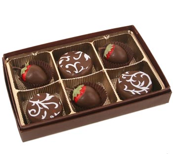 Dipped Strawberries and Chocolate Candies